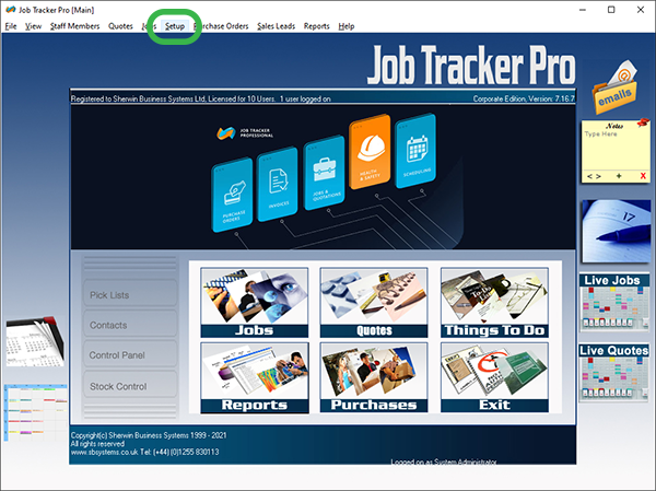 Job Tracker Professional, Job Management Software for UK Property Maintenance Industry